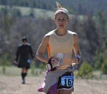 Snow at Wyoming's Rocky Mountain Double Marathon