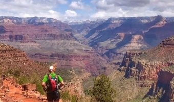 "Trophy Series Photo Contest Winner 4.13.17 - Kirstin Woody Scott - ""Running the Grand Canyon R2R2R with my hero and big brother. Training for The North Face Endurance Challenge Massachusetts"""