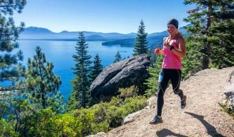 """Trophy Series Photo Contest Winner 052517: Ally Reite - """"Training for Tahoe's Emerald Bay Trail Race."""" Photo by Harry Lefrak / Lefrak Photography: http://www.lefrakphotography.com/"""