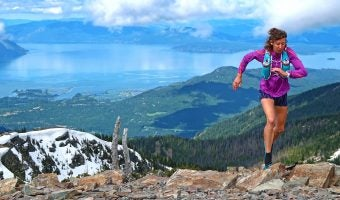 """Trophy Series Photo Contest Winner 6.15.17 - Katie Adams - """"I ran to the top of Scotchman Peak, Idaho last weekend as a part of my training for the HURL Elkhorn 50 Miler. North Idaho is such an incredible place for trail running! <3"""". Photo by Gwen Le Tutour"""