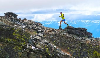 """Trophy Series Photo Contest Winner 6.15.17 - Gwen Le Tutour - """"Training at the top of Scotchman Peak, Idaho for the HURL Elkhorn 50 miler! Sandpoint, ID is an epic place to train!"""" Photo by Katie Adams"""