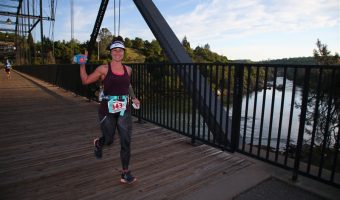 """Trophy Series Photo Contest Winner 7.6.17 - Jamie Kennison -  """"Beautiful morning crossing the Rainbow Bridge in Folsom during the American River 50."""" Photo by Keith Facchino"""