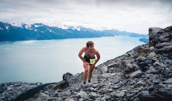 "Trophy Series Photo Contest Winner 7.20.17 - Paul Vanderheiden - ""Alaskan Steep, capturing Scott Patterson, the winner of Mount Marathon 2017."""