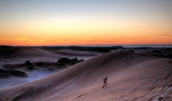 """Trophy Series Photo Contest Winner 8.3.17 - Hernan de Lahitte - """"Sand dunes workout at dawn, training for the Bear Chase Trail Races in September"""""""