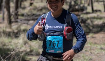 """Trophy Series Photo Contest Winner 9.7.17 - Daniel Magdalena - """"Kill me for signing up."""" Photo from the Jemez Mountain Trail Run. Photo by Jim Stein"""