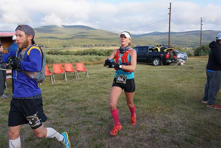 """At Leadville, """"I got to run in beautiful places with awesome people,"""" Clare says. Photo by Ryan Lassen"""