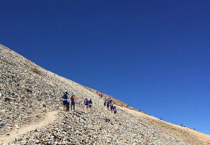 Approaching the summit of Imogene Pass.