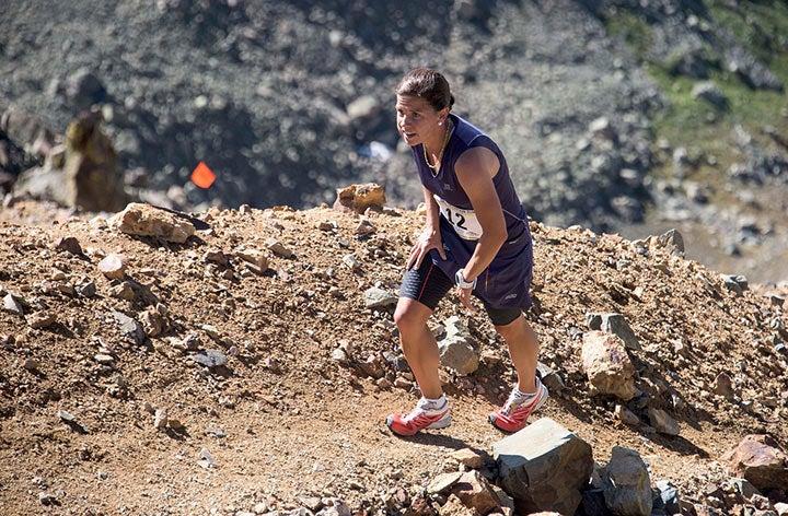 Stevie Kremer at the Kendall Mountain Run.