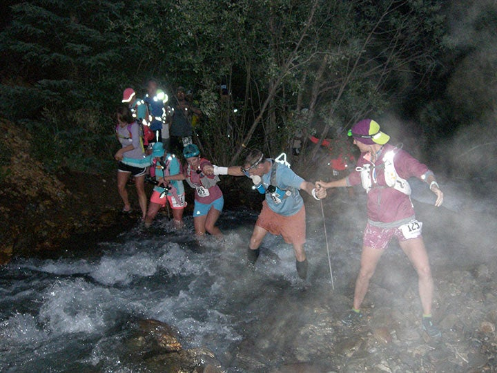 One of many creek crossings during the San Juan Solstice.