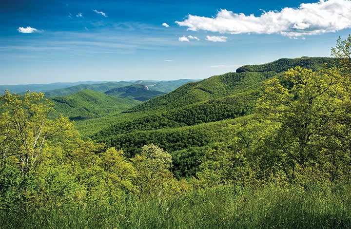 For the biggest mountains east of the Mississippi, Black Mountain is the place.