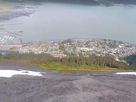 VIDEO: What It's Like to Run Down Alaska's Mt. Marathon, at 4x Speed