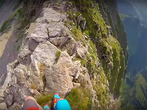 Video: The Sketchiest Ridge You'll Ever Run
