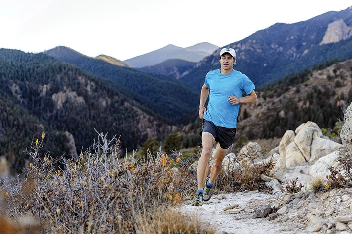 Jason Koop on the Intemann Trail in Colorado Springs, one of his favorite local runs.