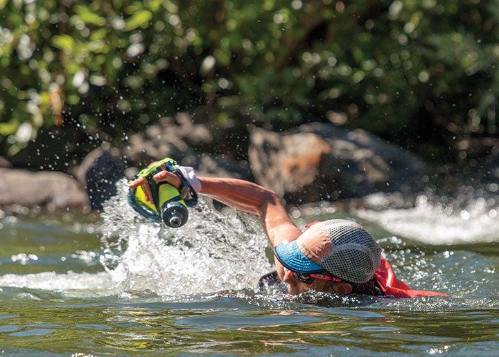 Walmsley's swim at mile 78 turned treacherous.