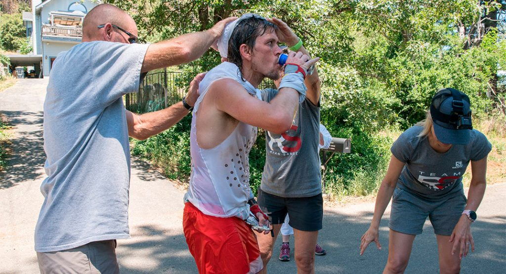 Trying to beat the heat. Photo courtesy of Red Bull Content Pool