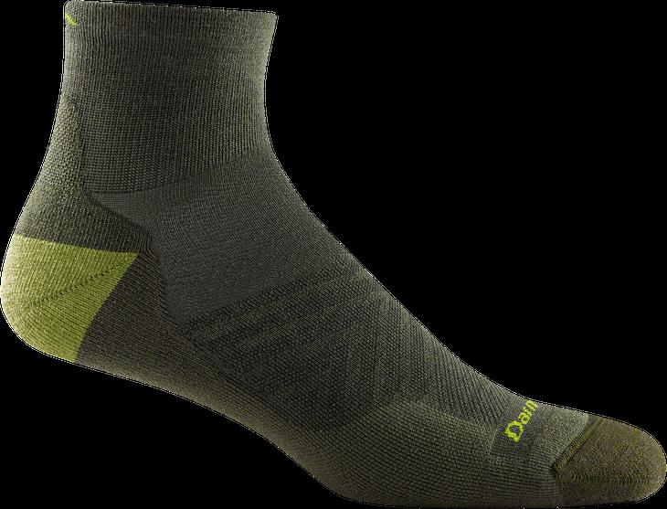 Mens Run Quarter Ultra Lightweight Sock Fatigue Hágalo todo con la alineación 2021 de Darn Tough Vermont