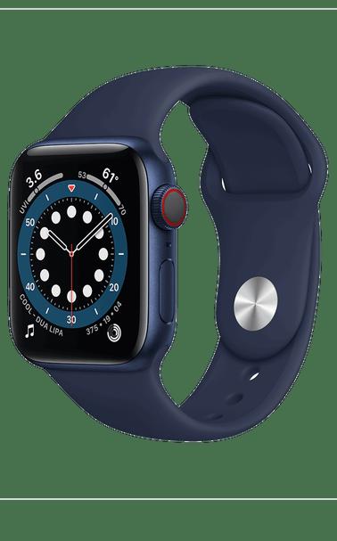 Apple Watch Series 6 44mm Navy Aluminum Sport Band frontimage Nuestra tecnología Trail favorita 2021